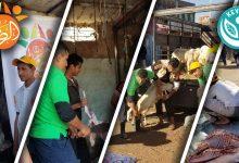 Photo of توزيع اللّحُوم على الأسر النازحة والمتعففة بسبب الحرب والحصار المفروض على بلدنا العزيز  مؤسسة الرضا … ١٨-١-٢٠١٩م